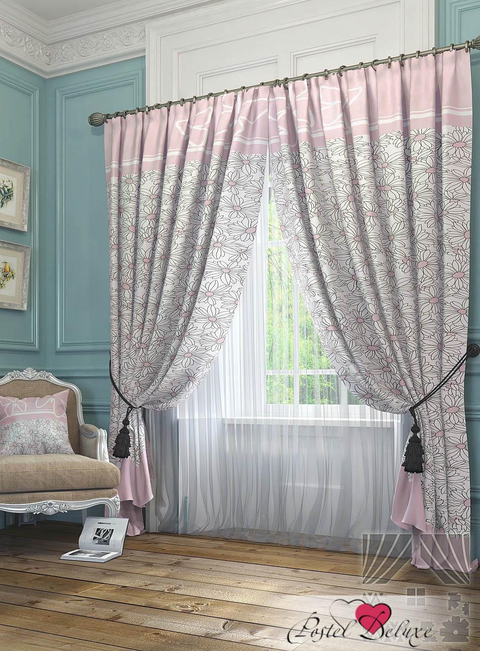 Шторы ТомДом Классические шторы Ромашки Цвет: Розовый шторы tac классические шторы winx цвет персиковый 200x265 см