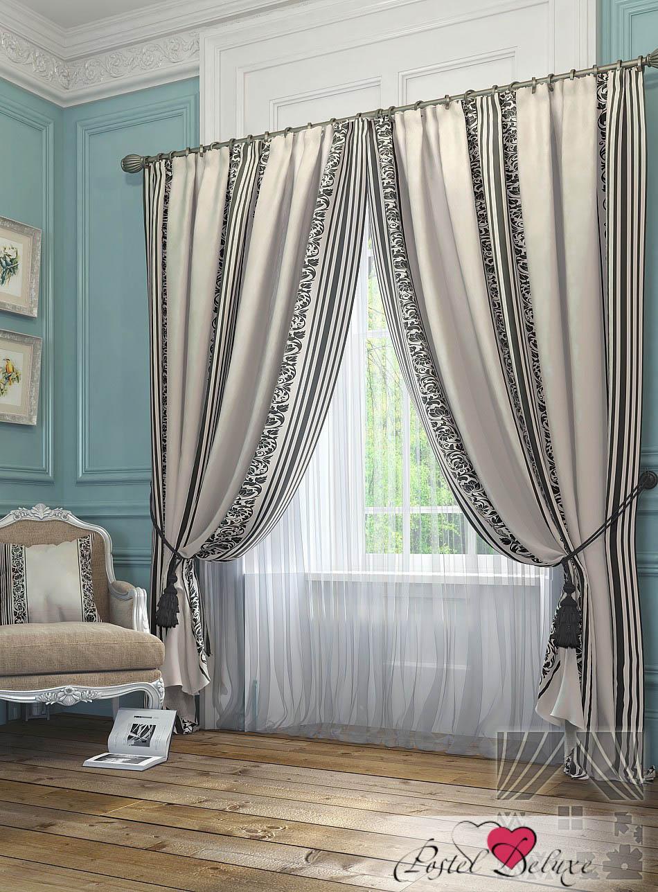 Шторы ТомДом Классические шторы Бурт Цвет: Бежевый шторы tac классические шторы winx цвет персиковый 200x265 см