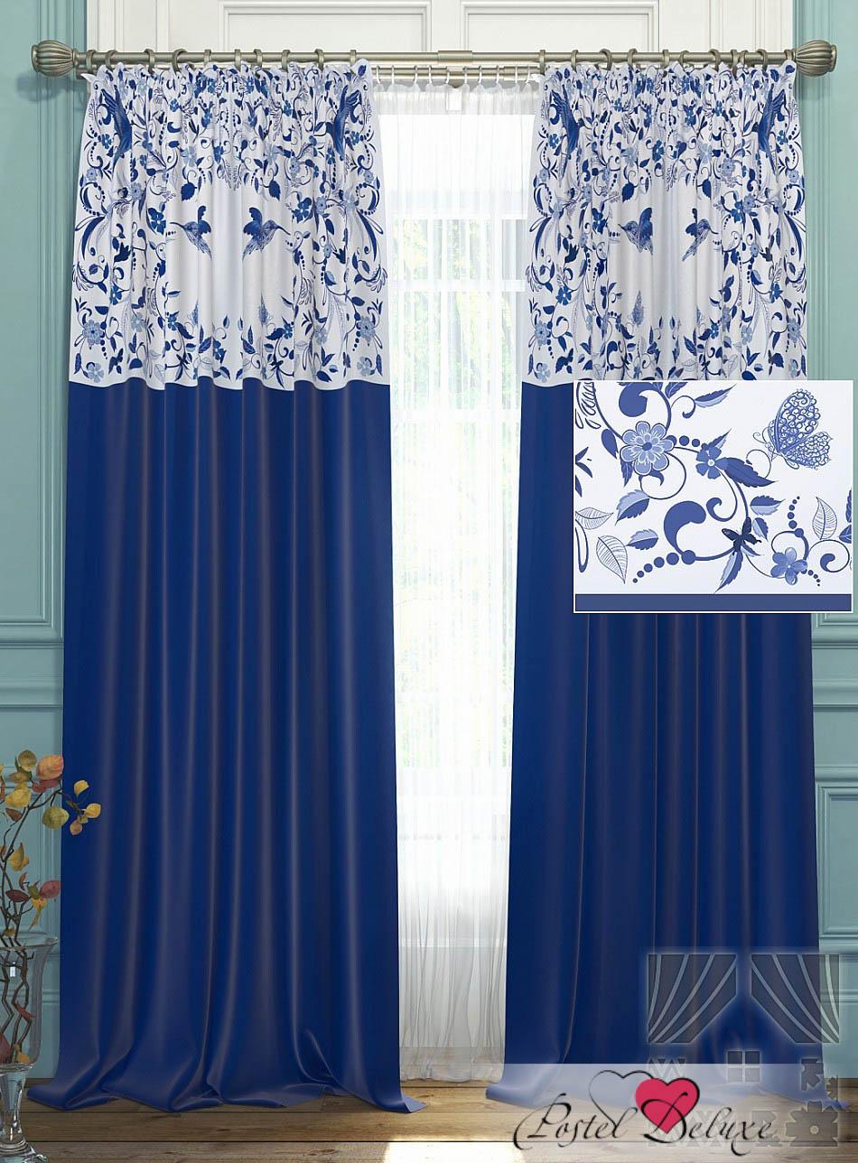 Шторы ТомДом Классические шторы Агно Цвет: Синий шторы tac классические шторы winx цвет персиковый 200x265 см
