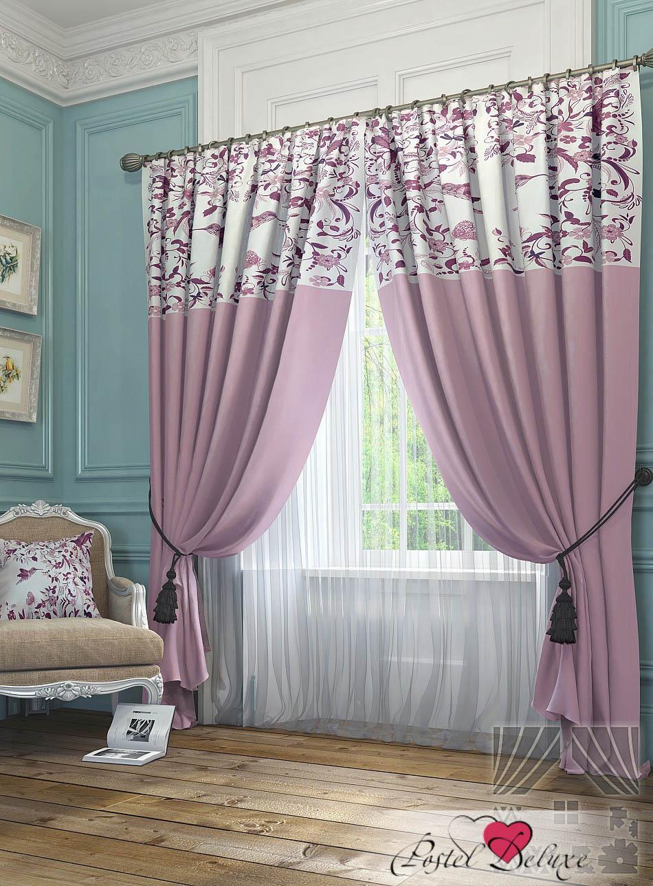 Шторы ТомДом Классические шторы Агно Цвет: Розовый