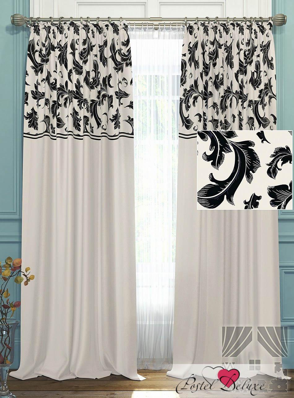 Шторы ТомДом Классические шторы Блуа Цвет: Бело-Черный