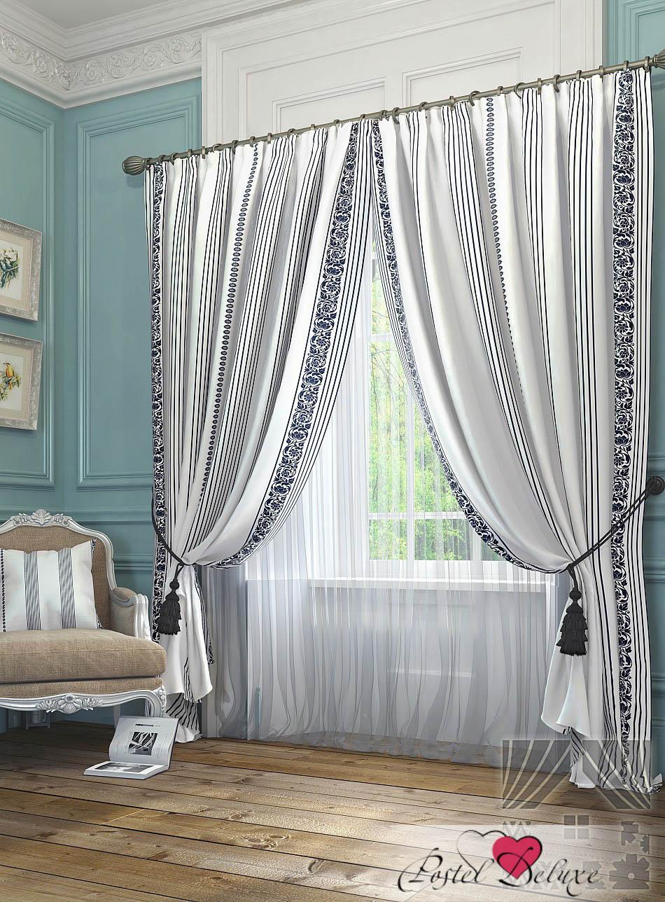 Шторы ТомДом Классические шторы Бовье Цвет: Белый шторы tac классические шторы winx цвет персиковый 200x265 см