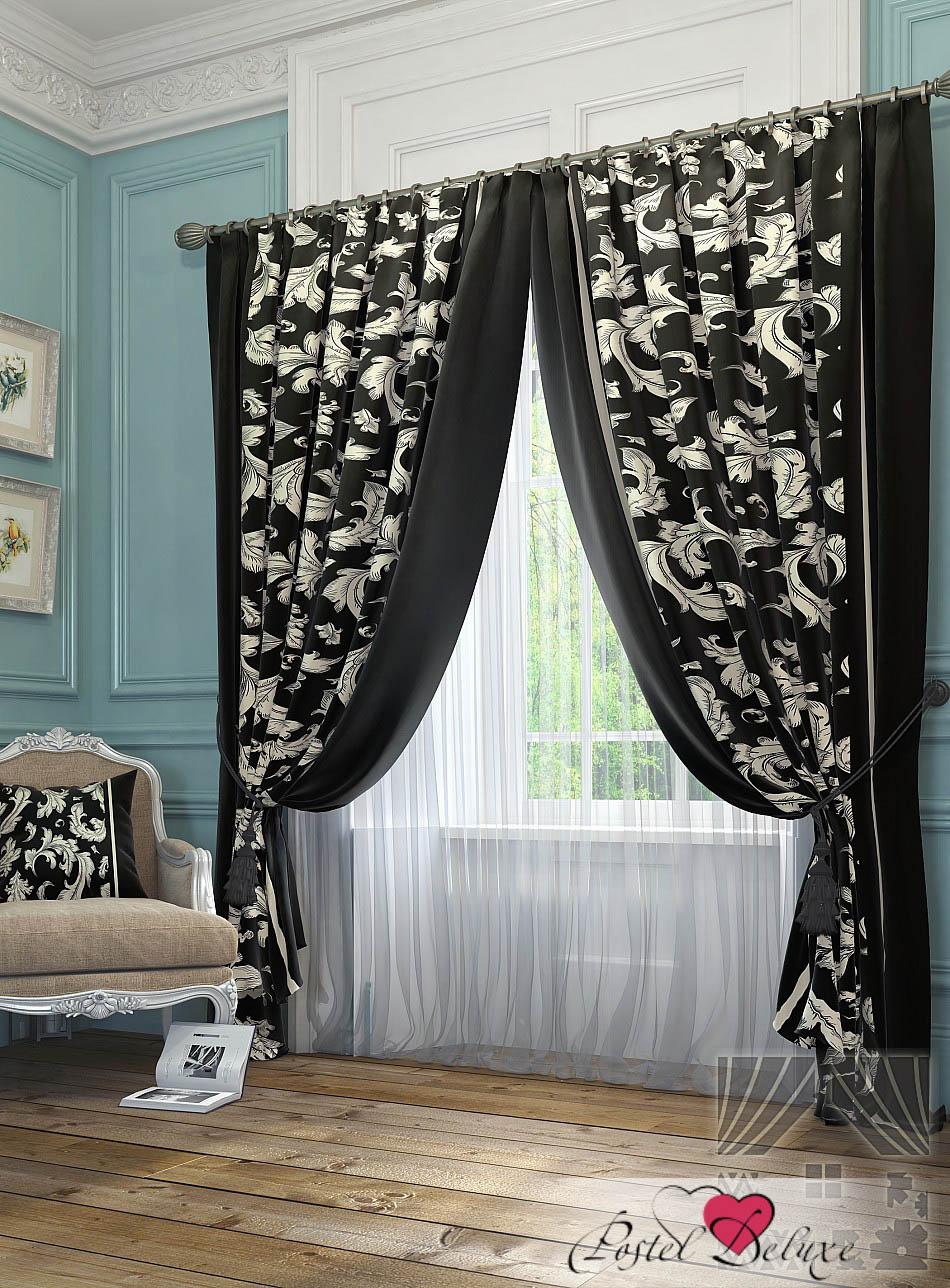 Шторы ТомДом Классические шторы Рубе Цвет: Черно-Белый шторы tac классические шторы winx цвет персиковый 200x265 см
