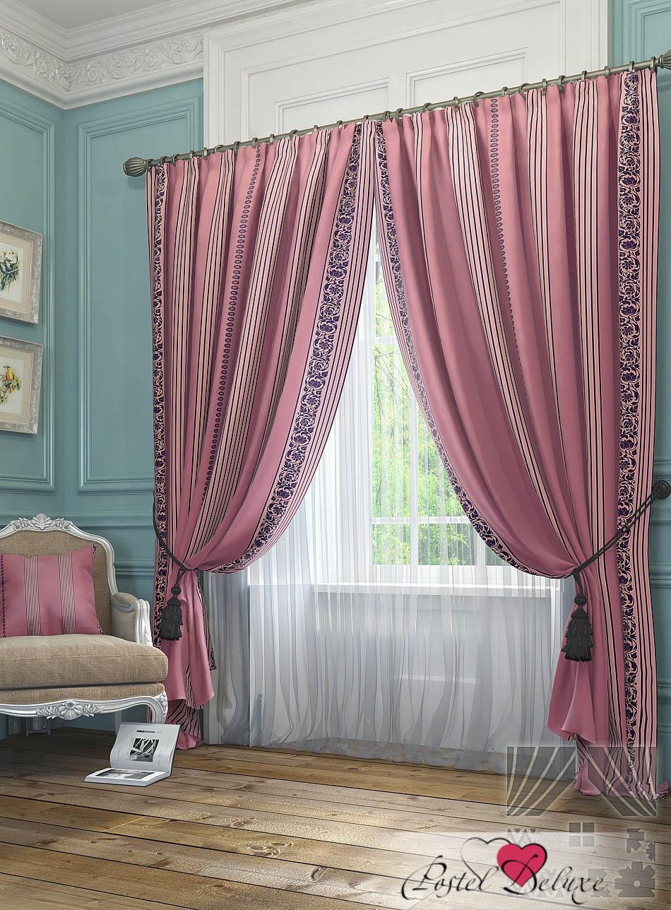 Шторы ТомДом Классические шторы Бовье Цвет: Розовый шторы tac классические шторы winx цвет персиковый 200x265 см