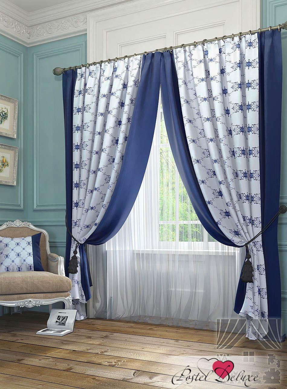 Шторы ТомДом Классические шторы Алия Цвет: Синий