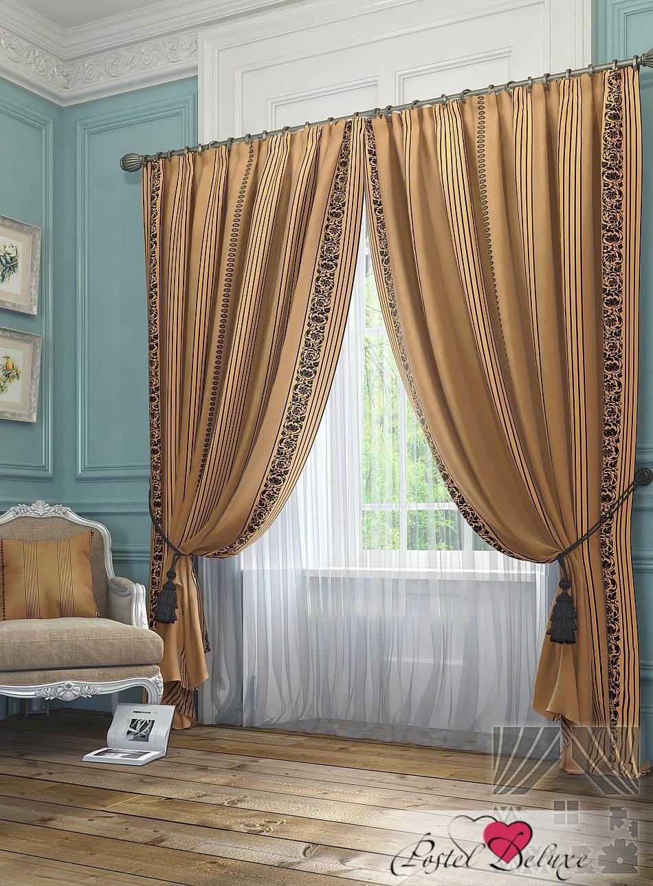 Шторы ТомДом Классические шторы Бовье Цвет: Коричневый шторы томдом классические шторы менак цвет пыльная роза
