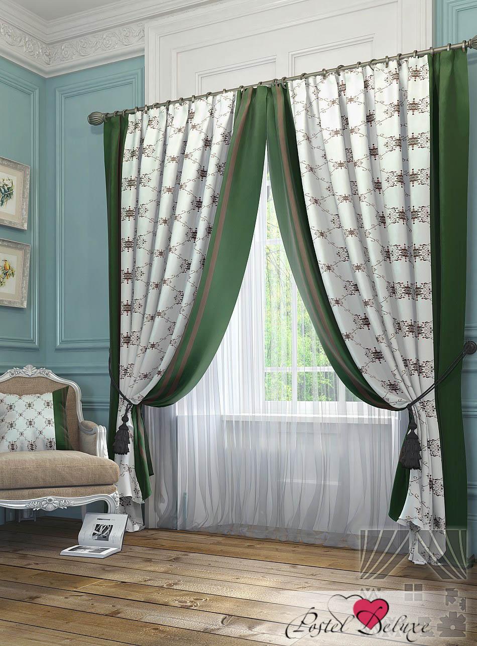 Шторы ТомДом Классические шторы Алия Цвет: Зеленый шторы tac классические шторы winx цвет персиковый 200x265 см