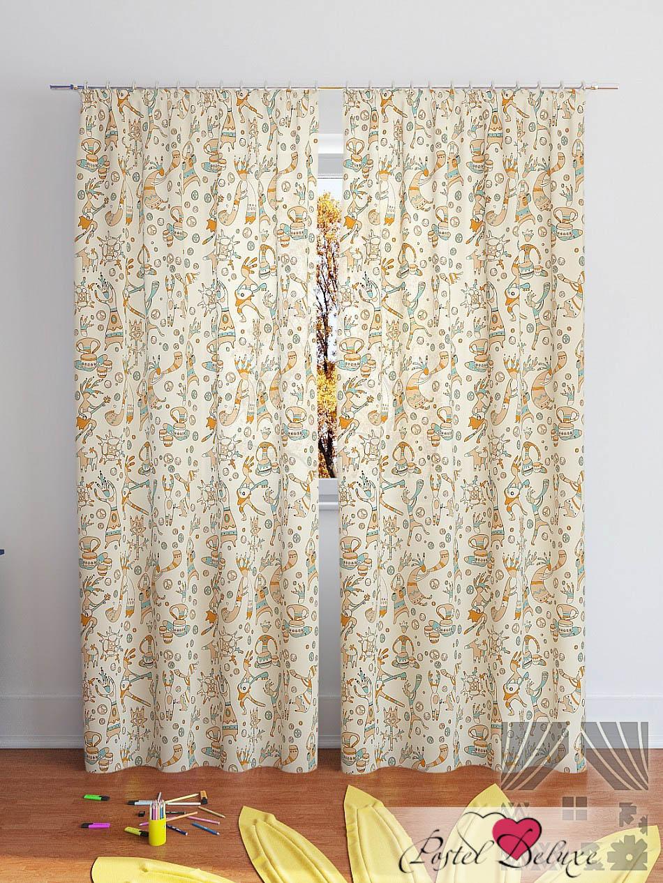 Шторы ТомДом Классические шторы Шанки-К Цвет: Бежевый