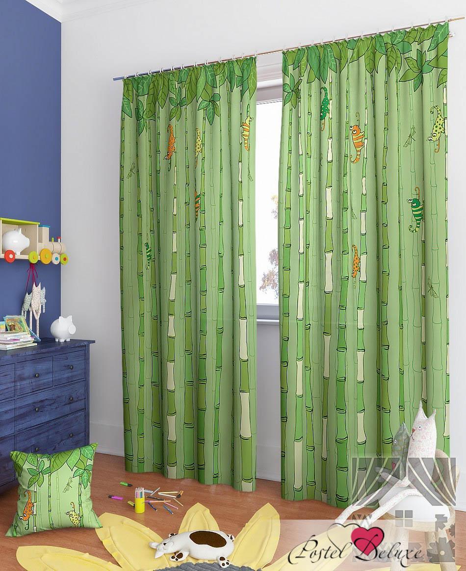 Шторы ТомДом Классические шторы Филан-К Цвет: Зеленый