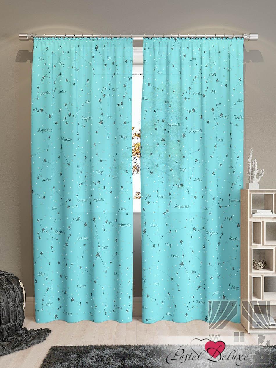Шторы ТомДом Классические шторы Эбис-К Цвет: Бирюзовый шторы томдом классические шторы керид цвет бирюзовый