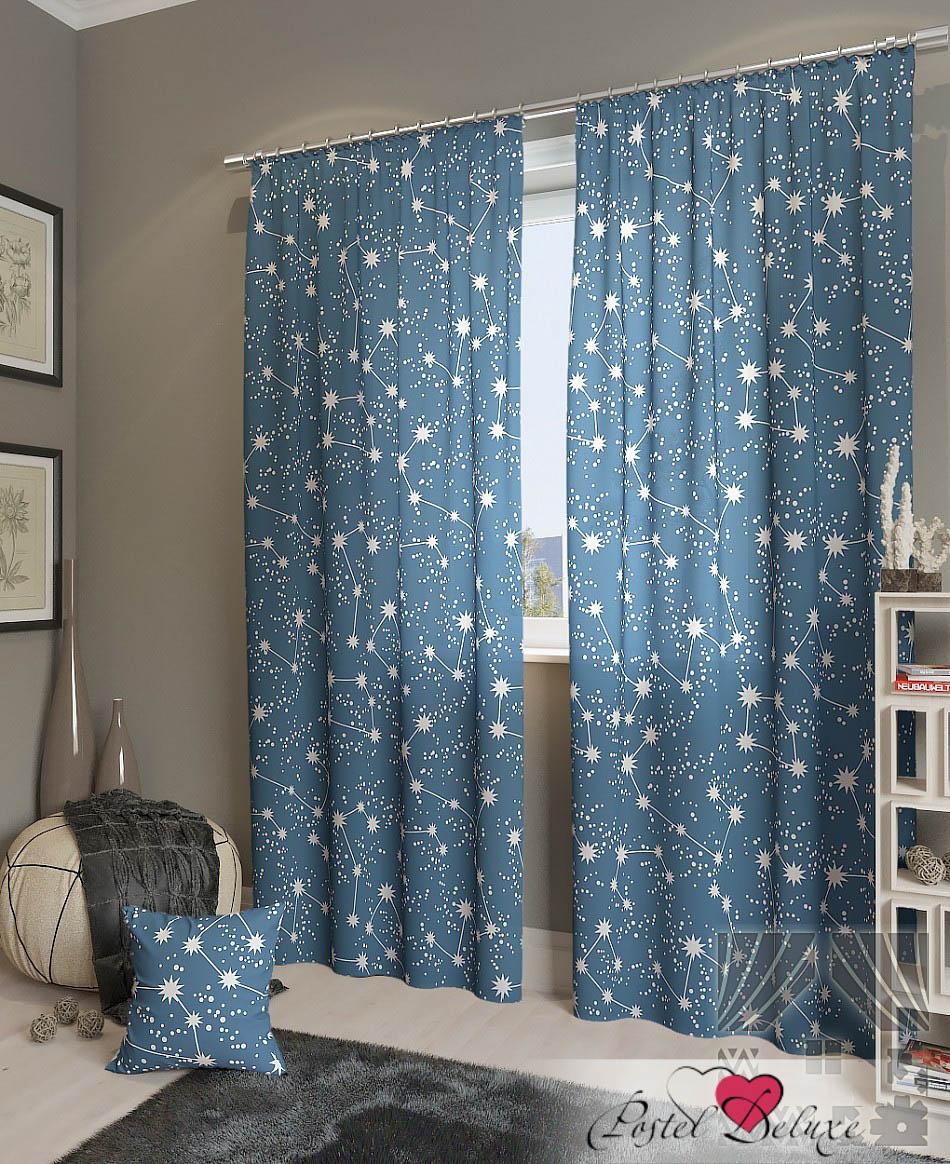 Шторы ТомДом Классические шторы Эбис-К Цвет: Синий шторы tac классические шторы winx цвет персиковый 200x265 см