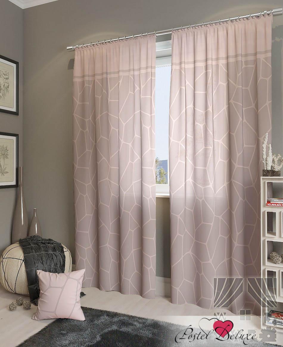 Шторы ТомДом Классические шторы Приал-К Цвет: Розово-Пепельный