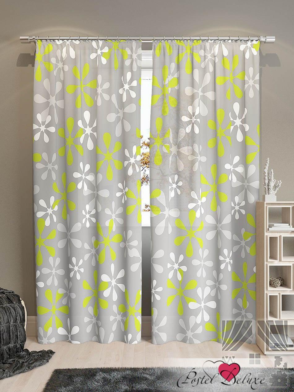 Шторы ТомДом Классические шторы Клякса-К Цвет: Зеленый шторы tac классические шторы winx цвет персиковый 200x265 см