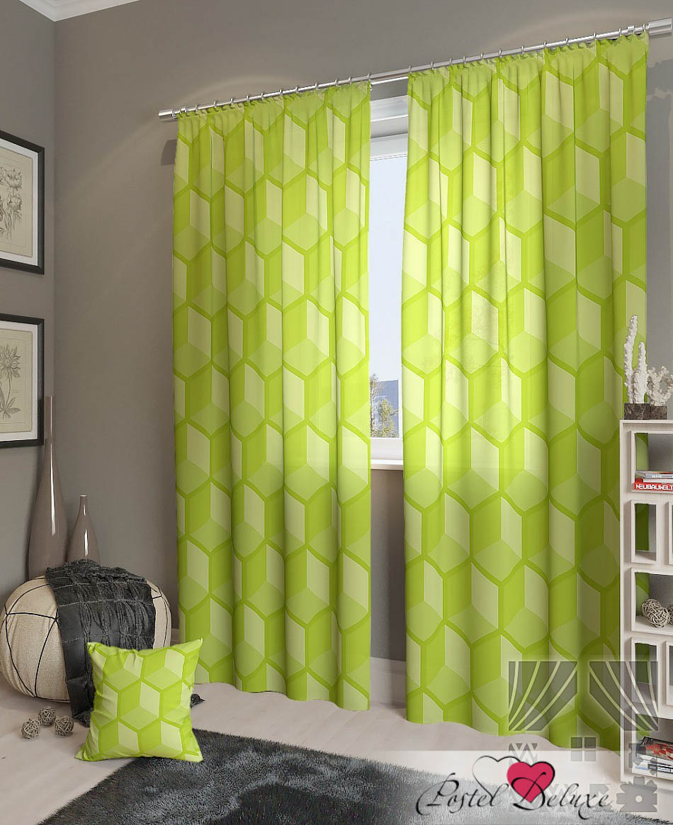 Шторы ТомДом Классические шторы Пику-К Цвет: Зеленый