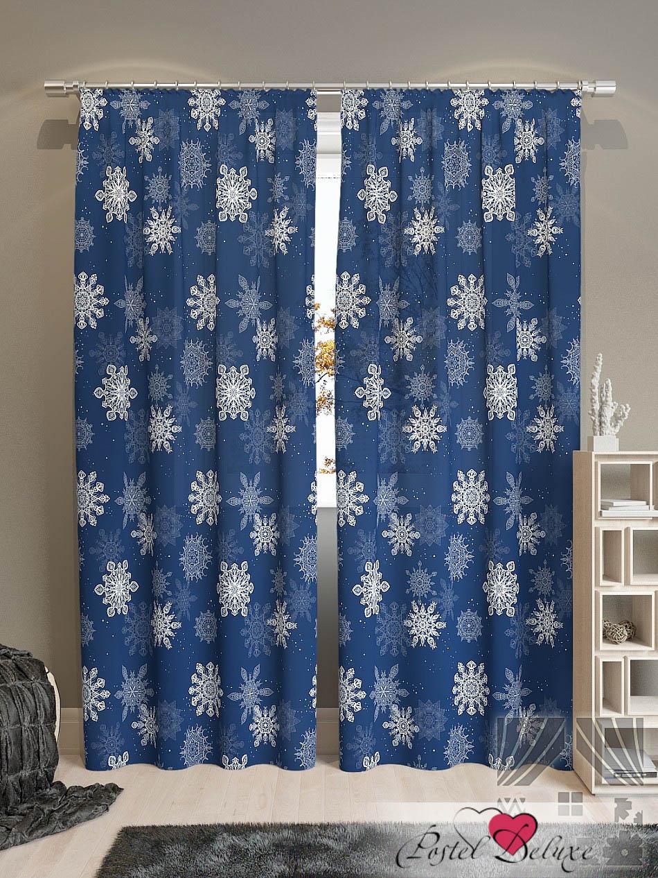 Шторы ТомДом Классические шторы Лонда-К Цвет: Синий