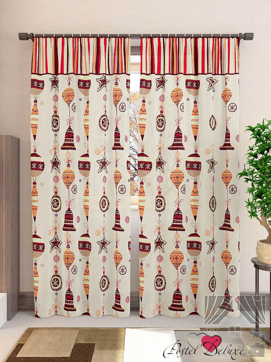 Шторы ТомДом Классические шторы Лакона-К Цвет: Бежевый шторы kauffort классические шторы barolo