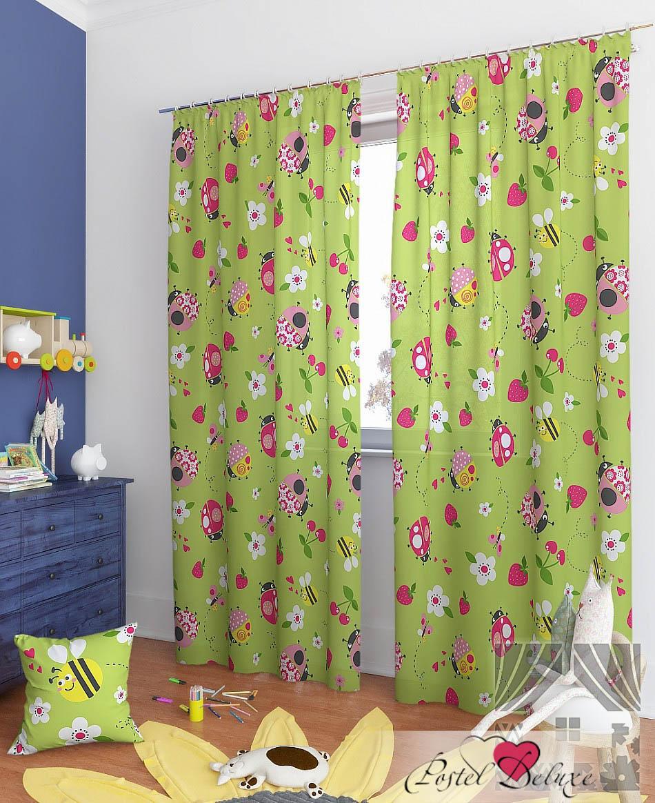 Шторы ТомДом Классические шторы Джани-К Цвет: Зеленый шторы tac классические шторы winx цвет персиковый 200x265 см