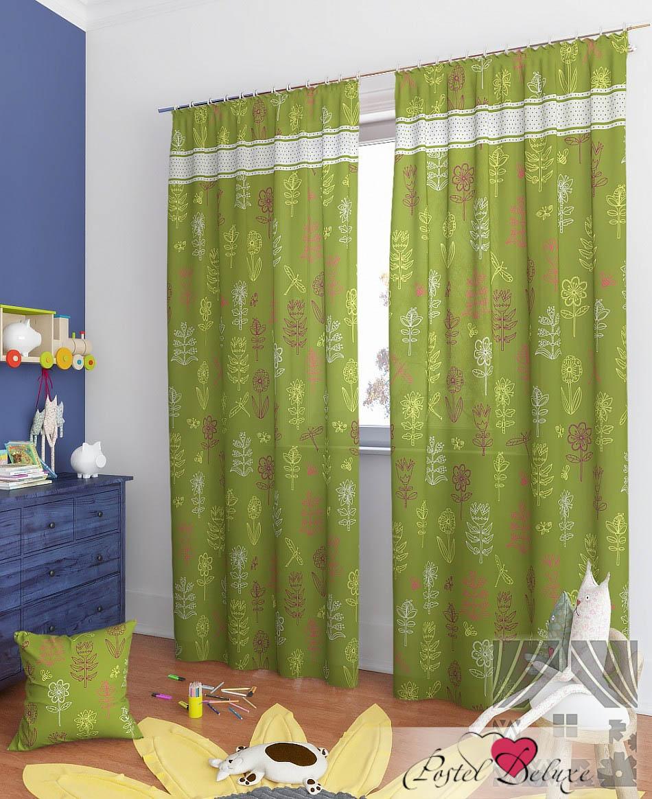 Шторы ТомДом Классические шторы Легия-К Цвет: Зеленый шторы tac классические шторы winx цвет персиковый 200x265 см