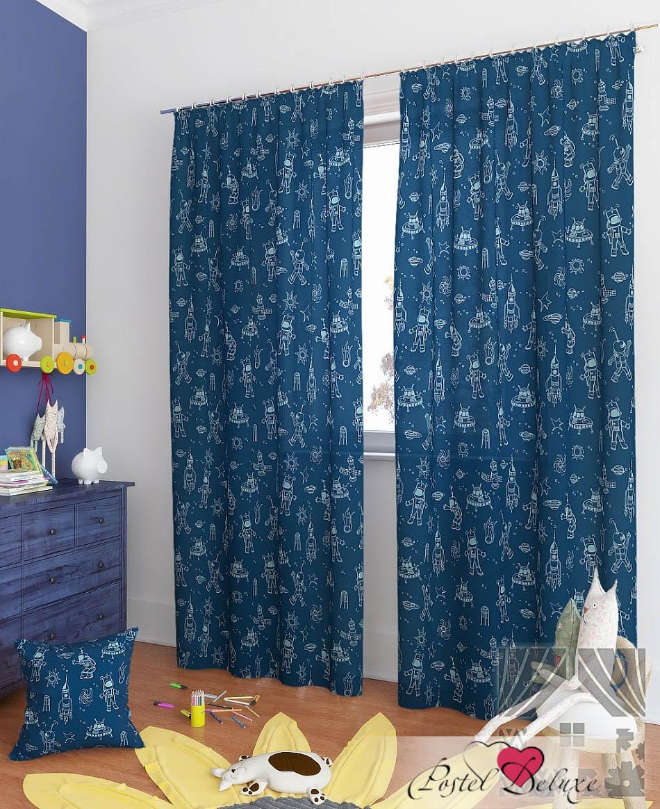 Шторы ТомДом Классические шторы Каскат-К Цвет: Синий томдом томдом классические шторы абель цвет малиновый