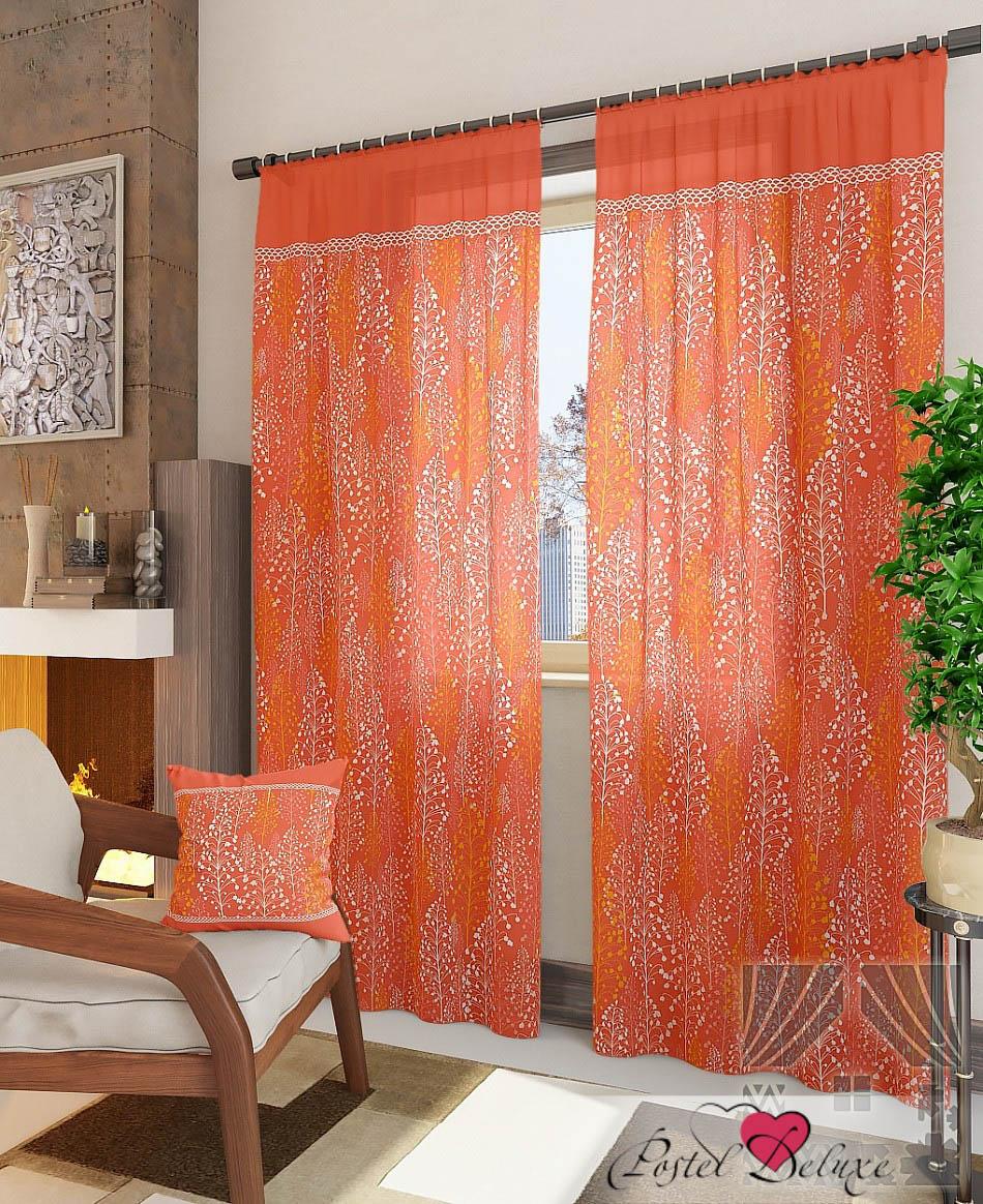 Шторы ТомДом Классические шторы Альпина-К Цвет: Оранжевый шторы tac классические шторы winx цвет персиковый 200x265 см