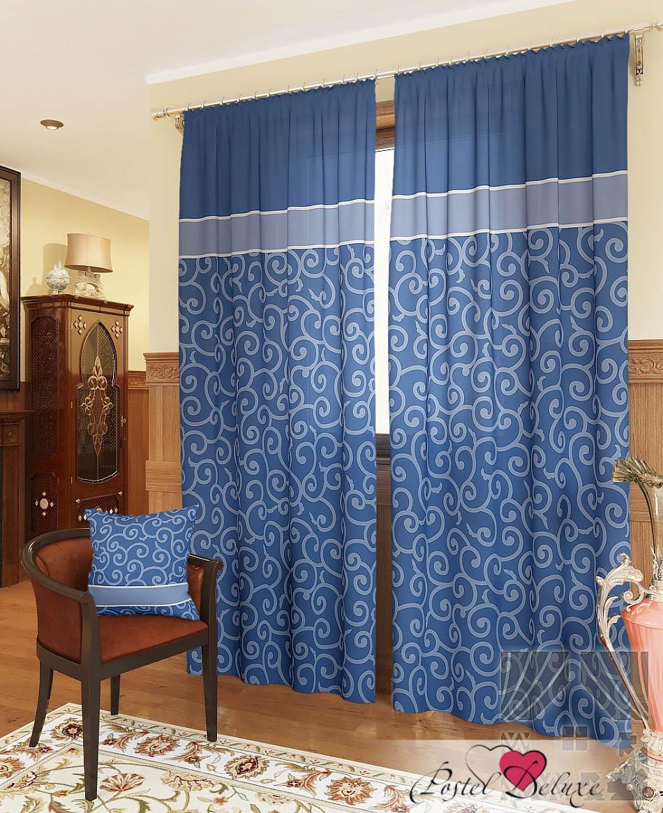 Шторы ТомДом Классические шторы Илвин-К Цвет: Синий шторы tac классические шторы winx цвет персиковый 200x265 см