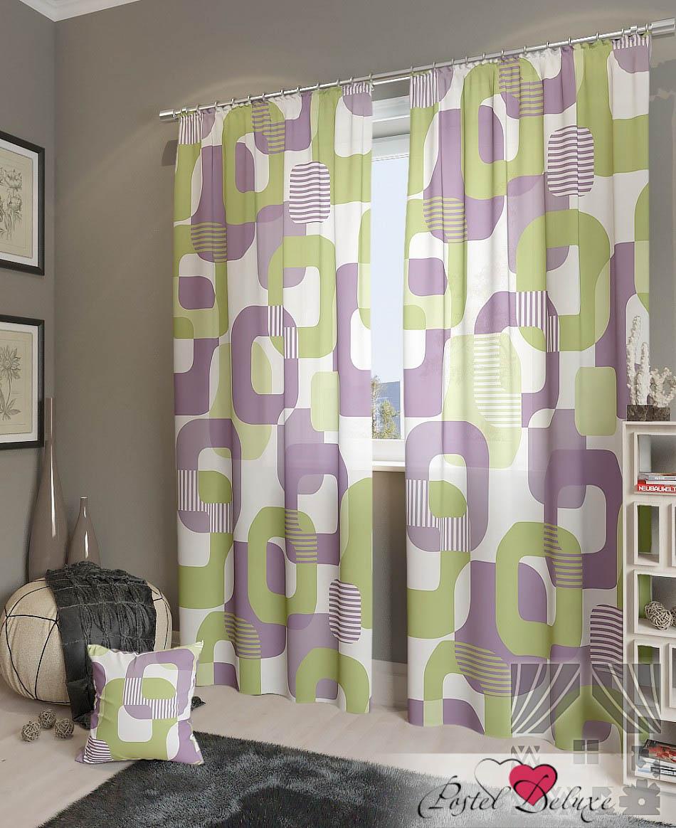 Шторы ТомДом Классические шторы Тонг-К Цвет: Сиреневый шторы tac классические шторы winx цвет персиковый 200x265 см