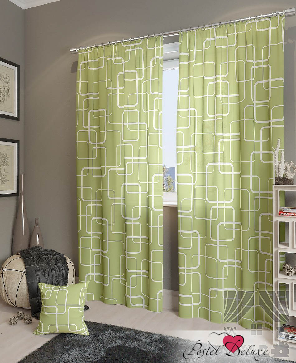 Шторы ТомДом Классические шторы Экси-К Цвет: Зеленый