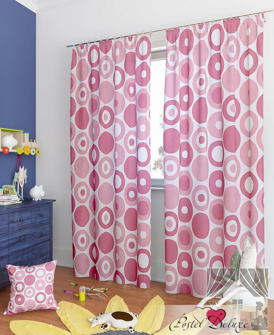 Шторы ТомДом Классические шторы Фоли-К Цвет: Розовый