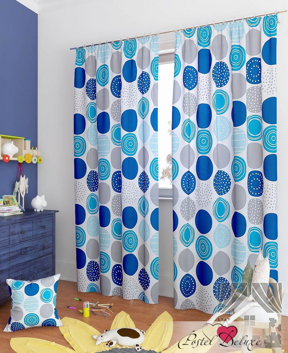 Шторы ТомДом Классические шторы Роули-К Цвет: Синий шторы tac классические шторы winx цвет персиковый 200x265 см