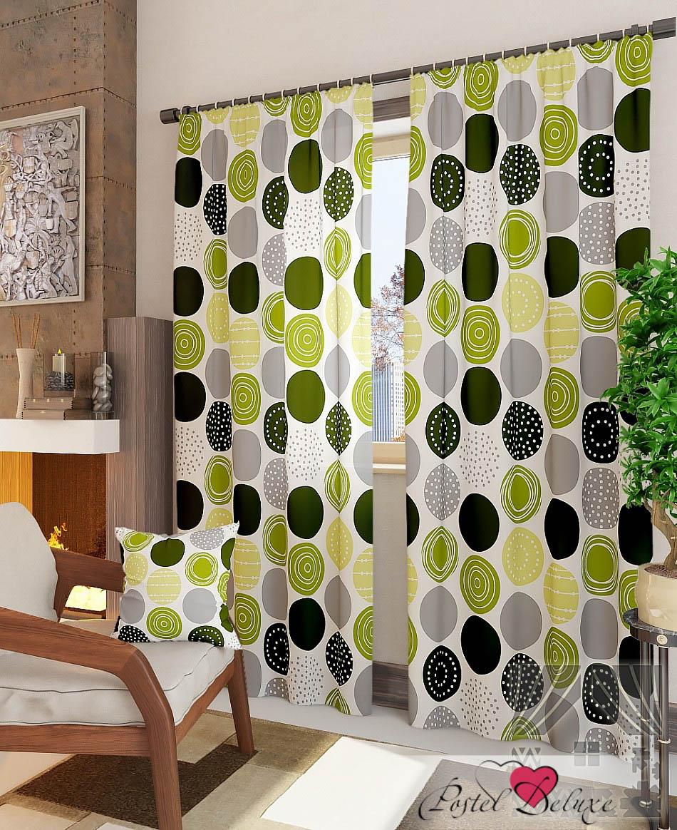 Шторы ТомДом Классические шторы Роули-К Цвет: Зеленый