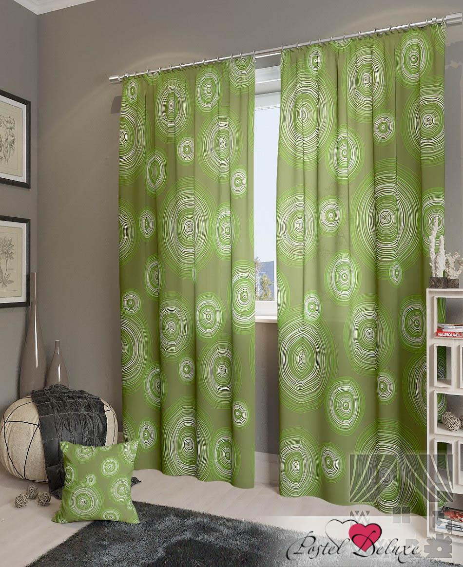 Шторы ТомДом Классические шторы Ван Гог-К Цвет: Зеленый