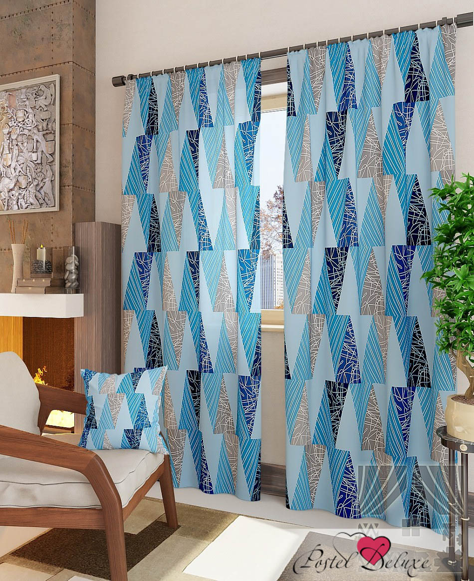 Шторы ТомДом Классические шторы Капри-К Цвет: Синий шторы томдом классические шторы менак цвет пыльная роза