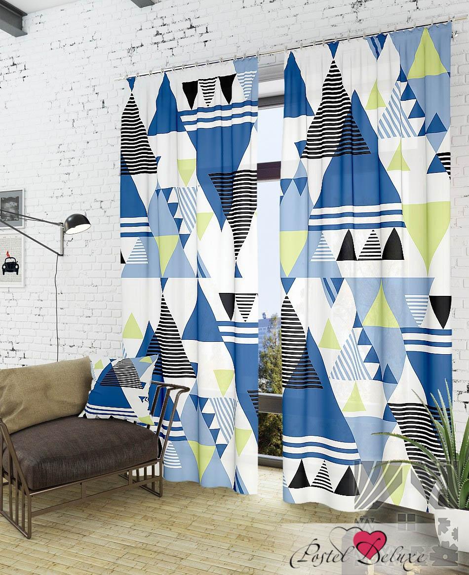 Шторы ТомДом Классические шторы Линт-К Цвет: Синий шторы tac классические шторы winx цвет персиковый 200x265 см