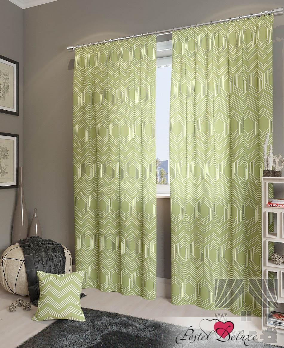 Шторы ТомДом Классические шторы Лате-К Цвет: Зеленый