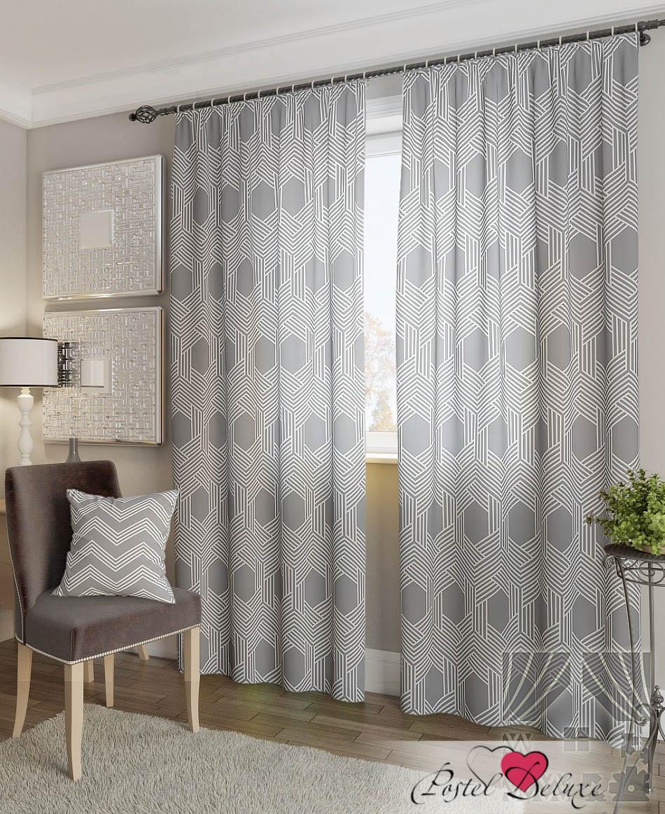 Шторы ТомДом Классические шторы Лате-К Цвет: Серый