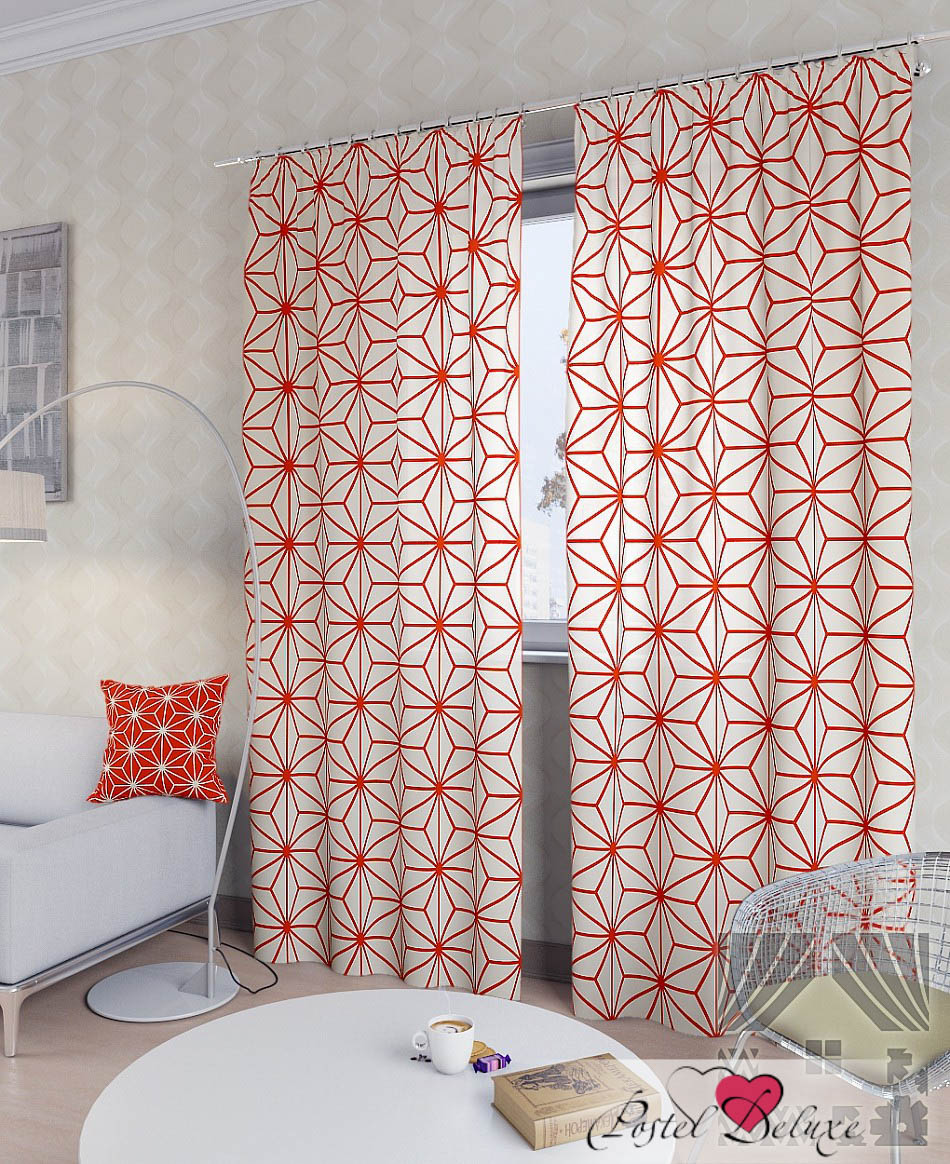 Шторы ТомДом Классические шторы Непин-К Цвет: Оранжевый
