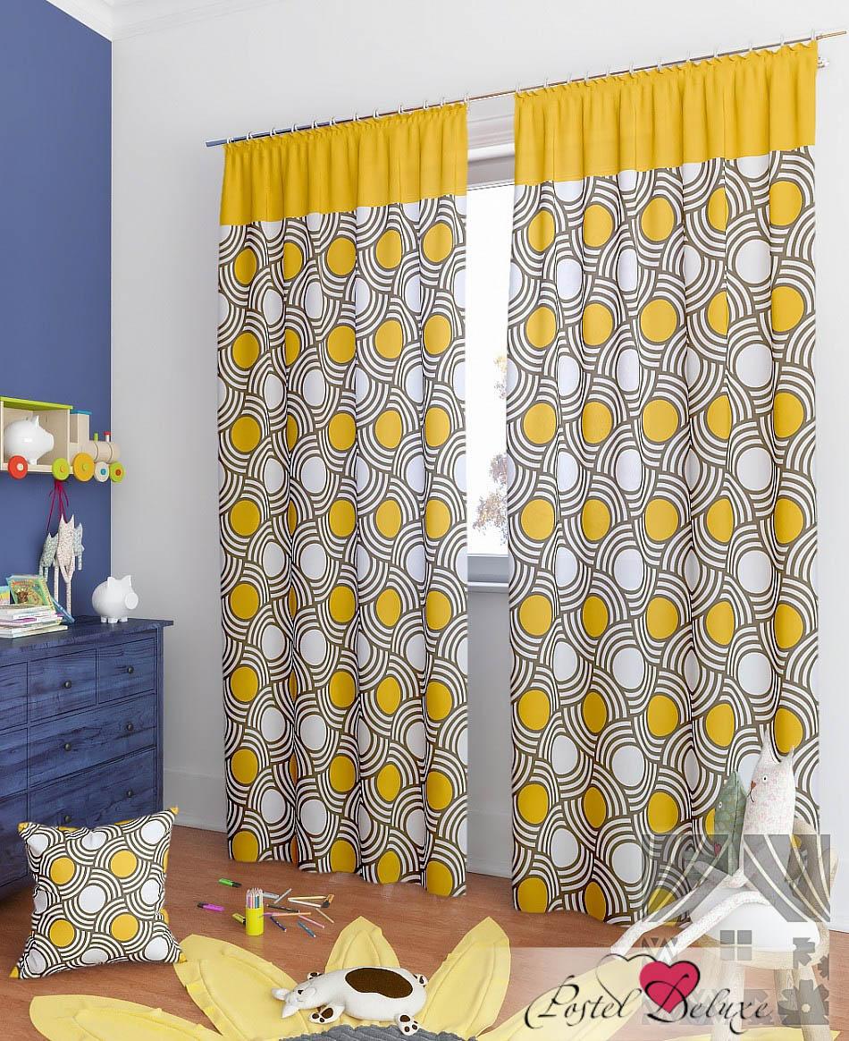 Шторы ТомДом Классические шторы Липси-К Цвет: Оранжевый
