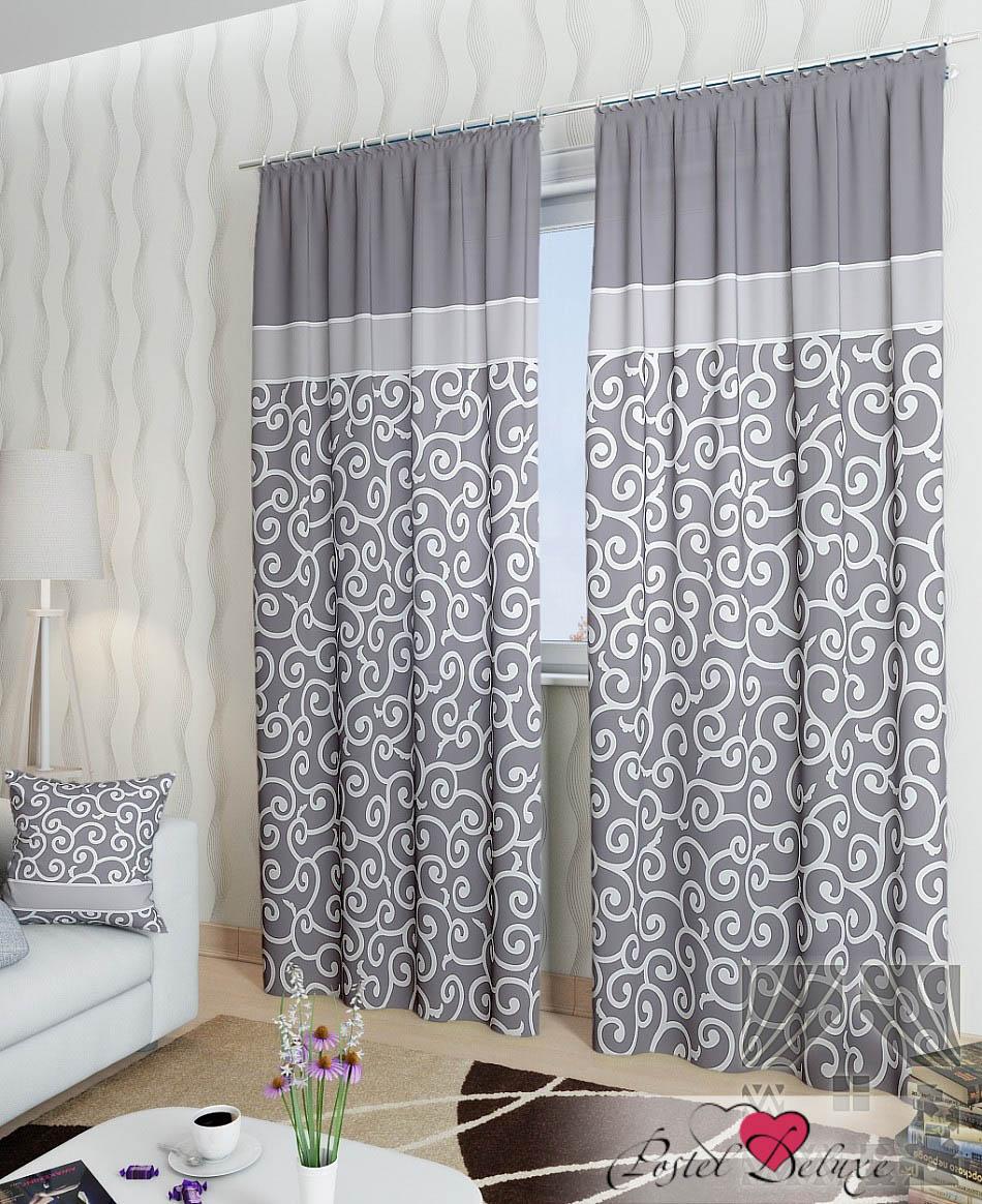 Шторы ТомДом Классические шторы Илвин-К Цвет: Серый