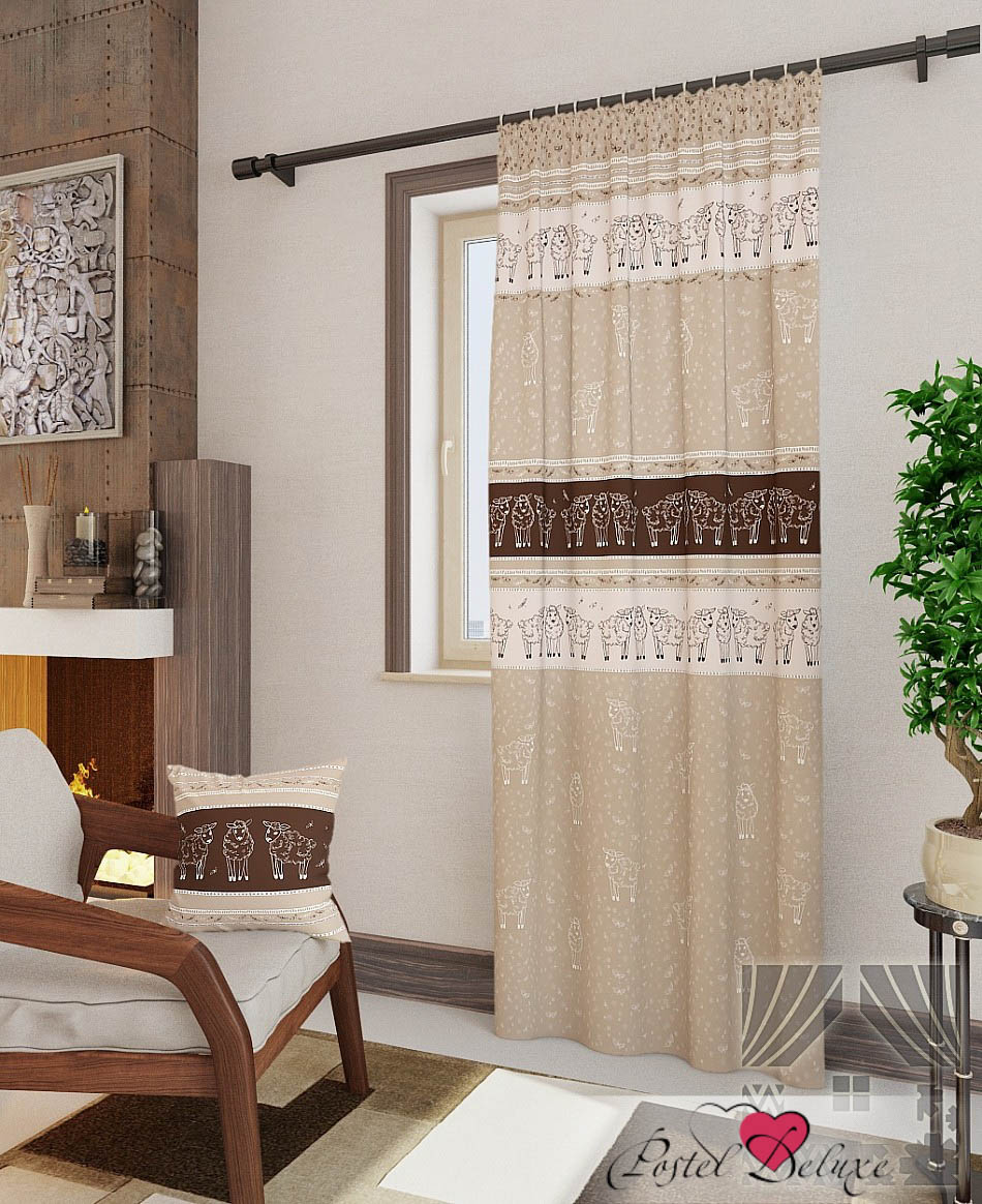 Шторы ТомДом Классические шторы Корти-П Цвет: Коричневый шторы tac классические шторы winx цвет персиковый 200x265 см