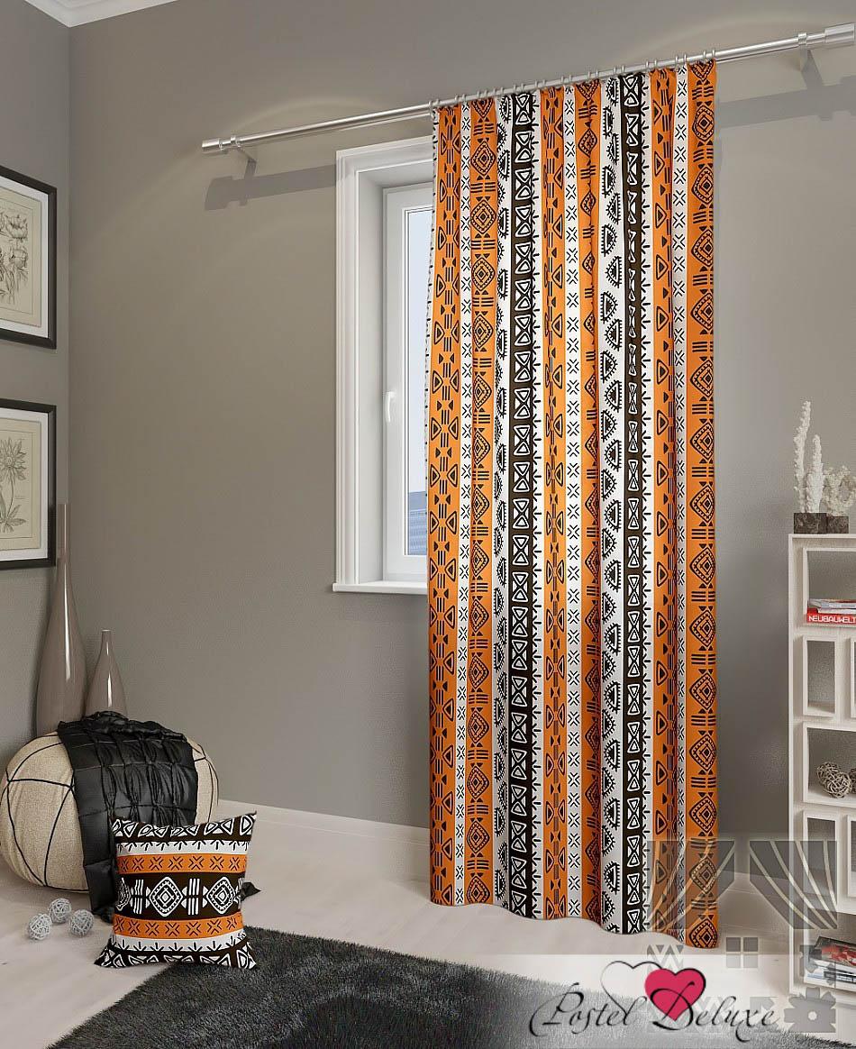 Шторы ТомДом Классические шторы Тасман-П Цвет: Оранжевый шторы primavera классические шторы maev цвет персиковый