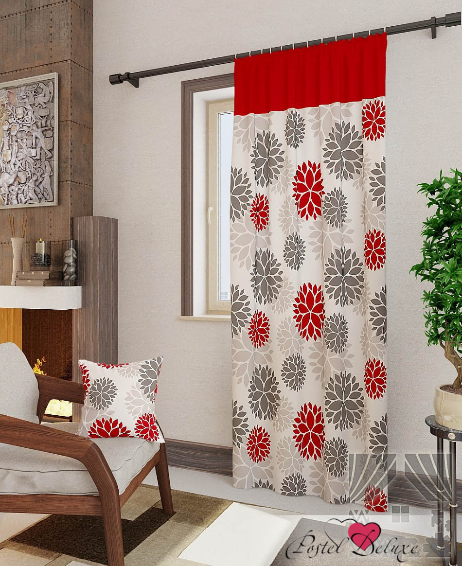 Шторы ТомДом Классические шторы Дарса-П Цвет: Красный шторы tac классические шторы winx цвет персиковый 200x265 см