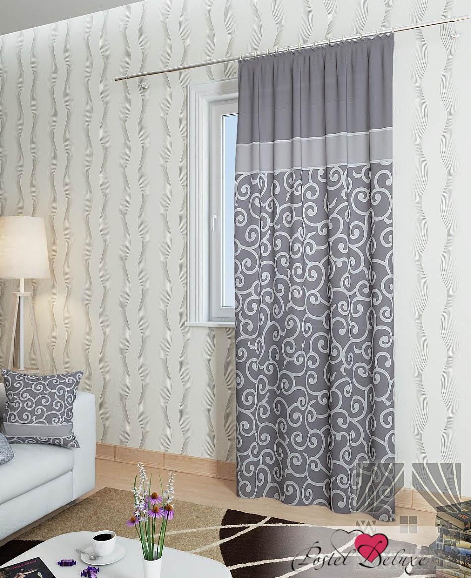 Шторы ТомДом Классические шторы Илвин-П Цвет: Серый