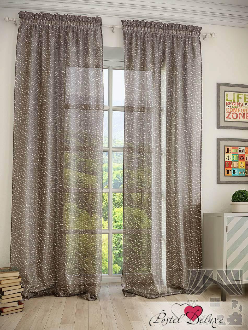 Шторы ТомДом Классические шторы Оска Цвет: Коричневый