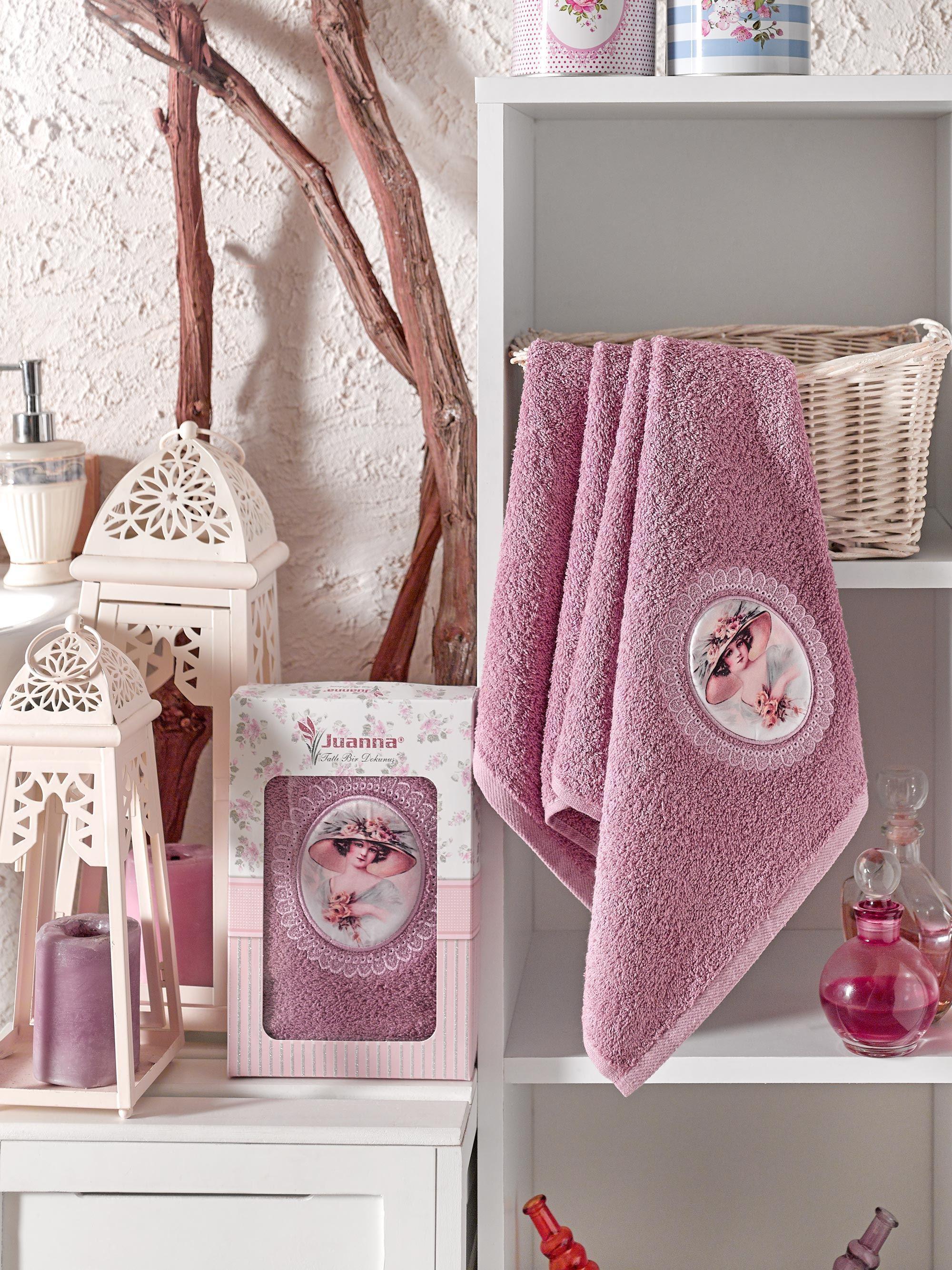 Полотенца Juanna Полотенце Lady Цвет: Баклажан (50х90 см) полотенца do n co полотенце lady цвет мятный набор