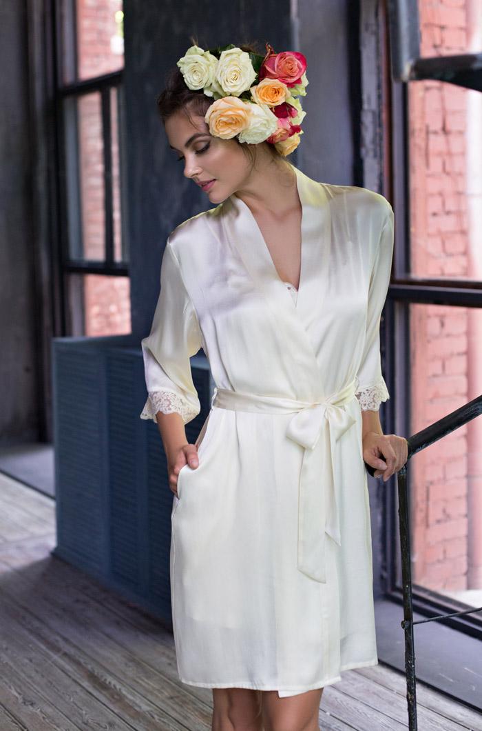 Домашние халаты Mia-Mia Домашний халат Kristy Цвет: Шампань (S) халаты домашние лори халат