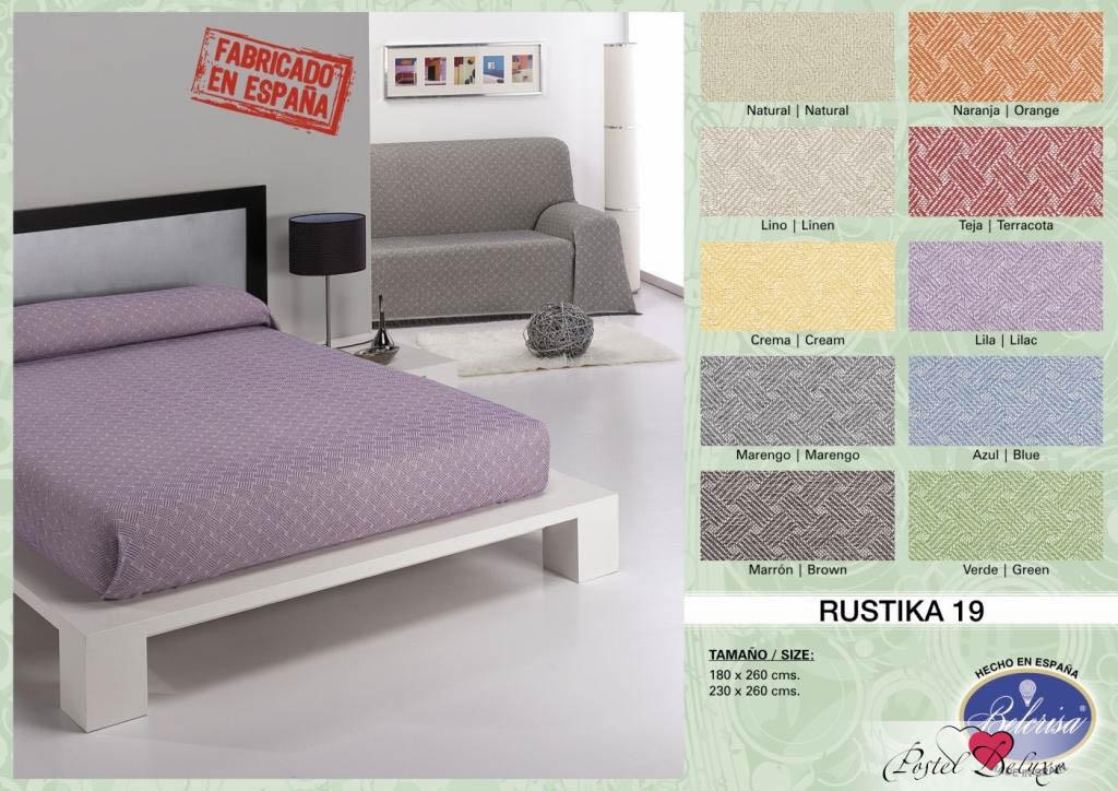 где купить Покрывало Umbritex Покрывало Rustica19 Цвет: Гранатовый (230х260 см) по лучшей цене