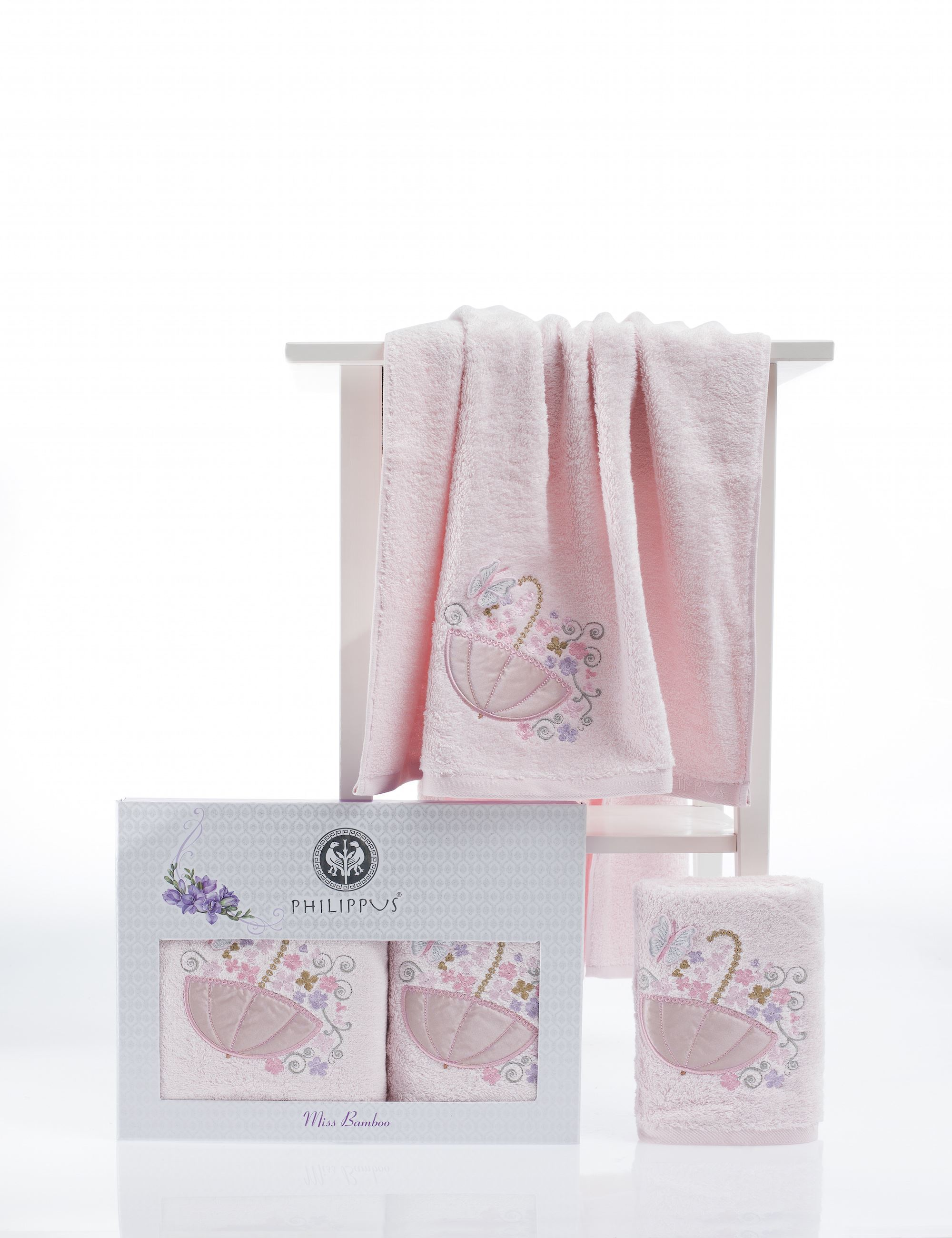 Полотенца Philippus Полотенце Victoria Цвет: Светло-Розовый (50х90 см,70х140 см) набор из 3 полотенец merzuka sakura 50х90 2 70х140 8432 оранжевый