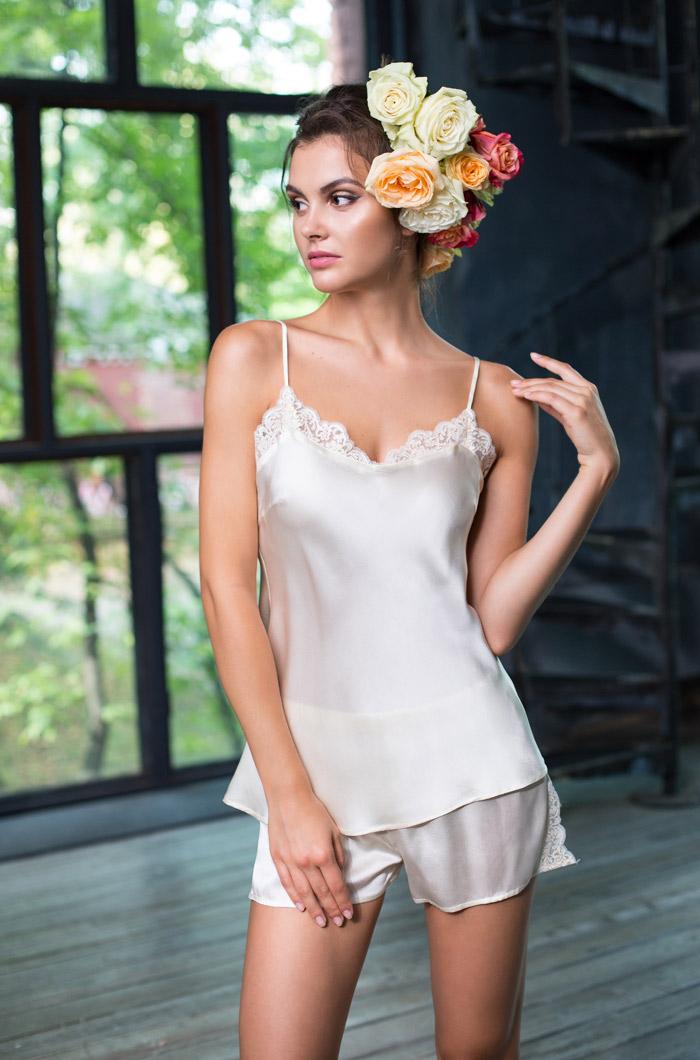 Пижамы Mia-Mia Пижама Kristy Цвет: Шампань (M) пижамы mia cara пижама paisley цвет розовый m l