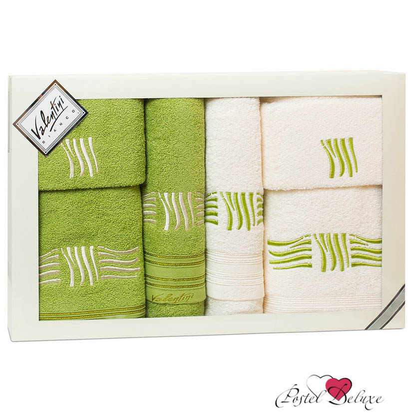 Полотенца Valentini Полотенце Sea Цвет: Салатовый, Белый (Набор) полотенца tango полотенце merrill 75х150 см