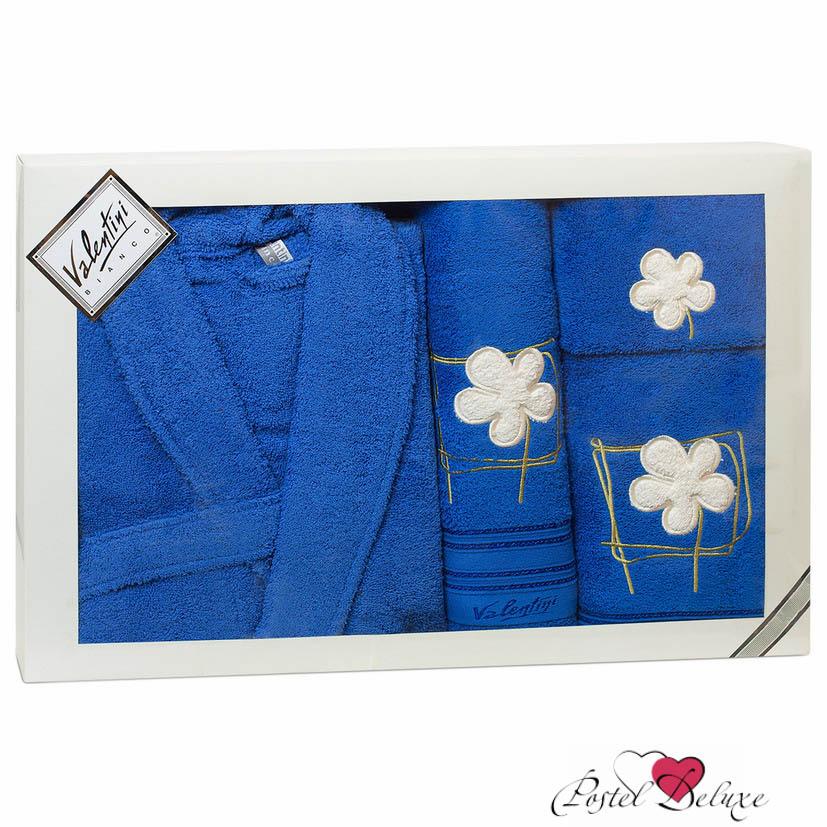 Сауны, бани и оборудование Valentini Халат Flower Цвет: Синий (L) сауны бани и оборудование valentini набор для сауны flower цвет розовый